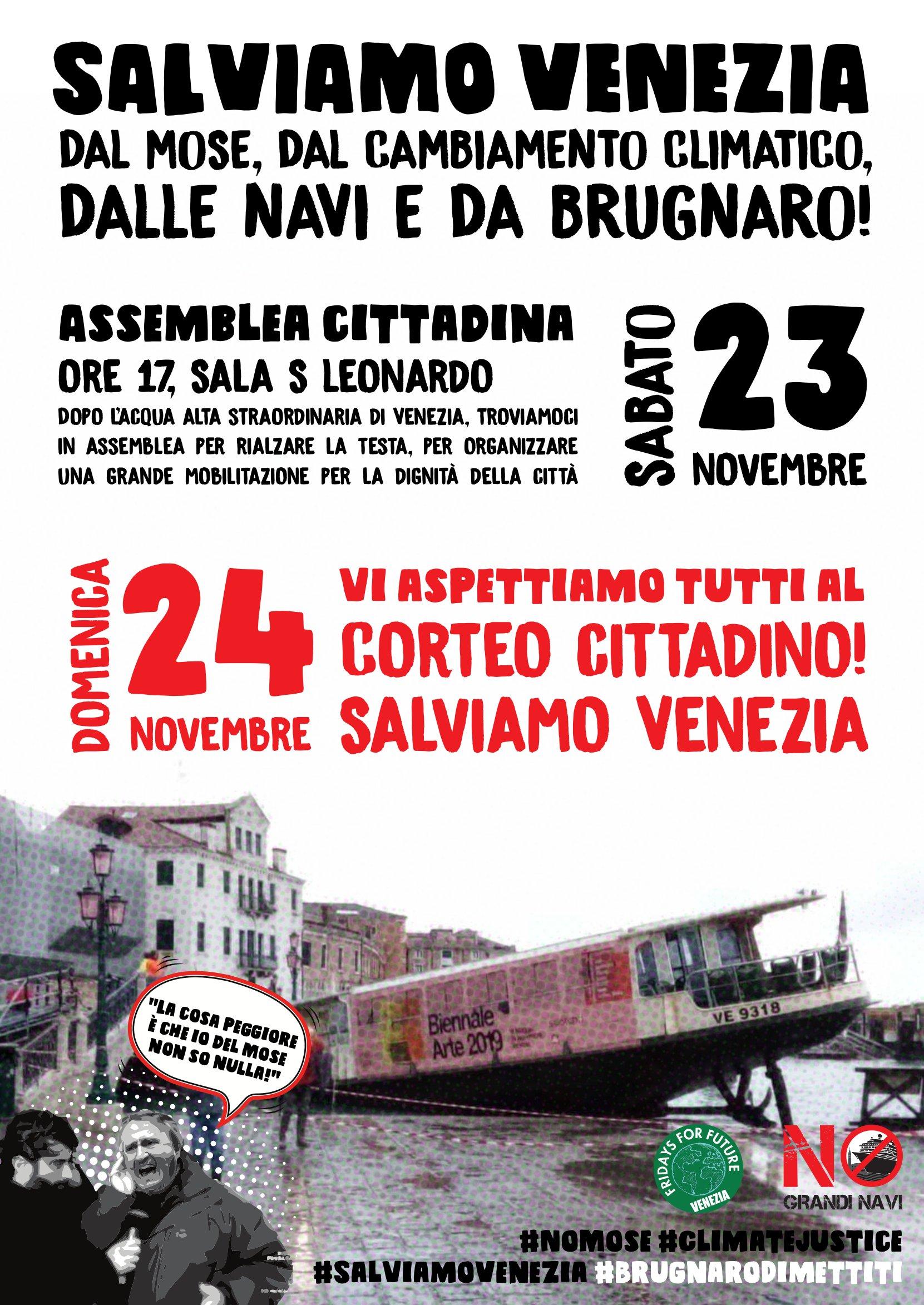 SALVIAMO VENEZIA! 23>24 Novembre